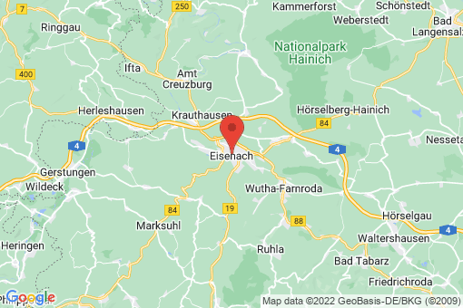Karte Eisenach