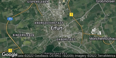 Google Map of Erfurt