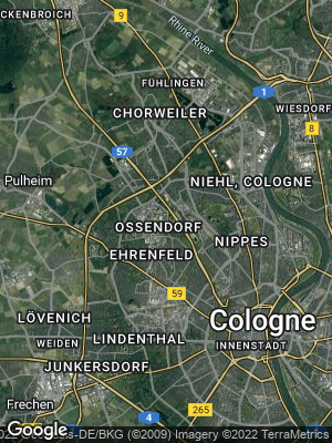 Google Map of Ossendorf