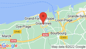 Carte de localisation du centre de contrôle technique Gravelines