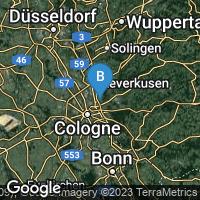 Lagekarte von Köln