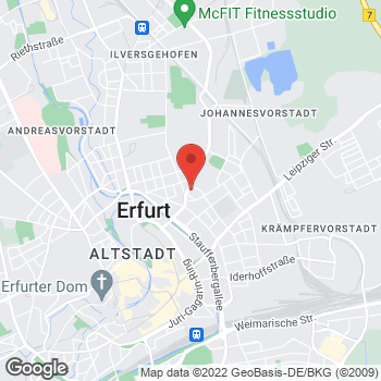Map of Mietwagen Erfurt - Interrent at Eugen-Richter-Str. 44, Erfurt,  99085