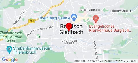 Google Map für Monteurwohnung in Bergisch Gladbach