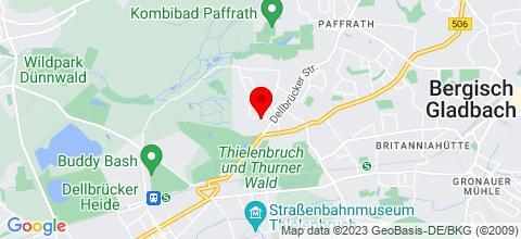 Google Map für Gästehaus Henk