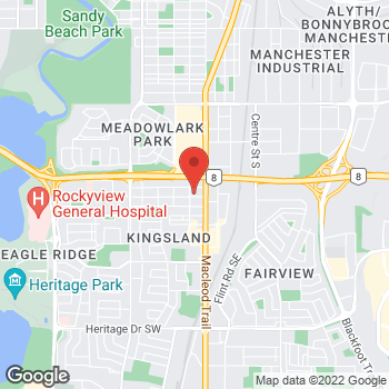 Map of Tim Hortons at 6825 Macleod Trail S, Calgary, AB T2H 0L5
