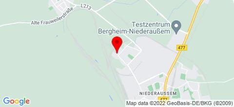 Google Map für MONTEURZIMMER-NIEDERAUSSEM
