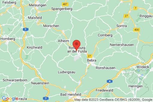 Karte Rotenburg an der Fulda