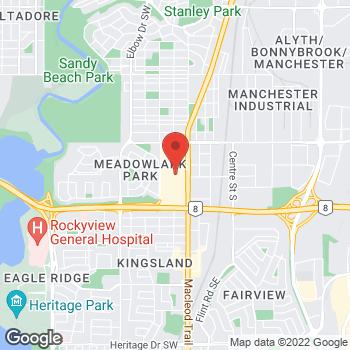 Map of Tim Hortons at 6455 Macleod Trail Sw, Calgary, AB T3C 1S2