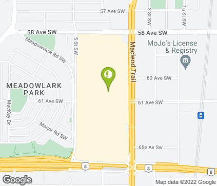 Map of 6455 MacLeod Trail SW in Calgary
