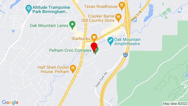 Google Map of 500 Amphitheater Road, Pelham, AL 35124
