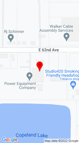 Google Map of Power Equipment Company 500 E 62nd Avenue, Denver, CO, 80216