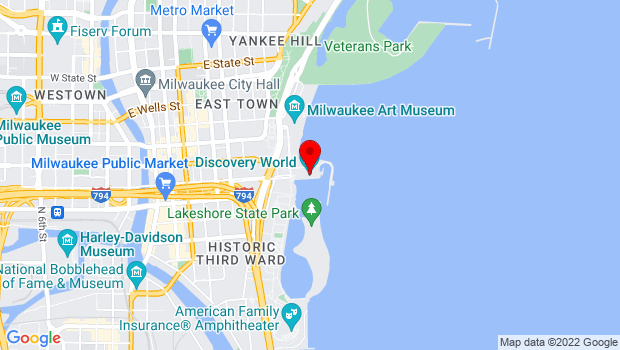 Google Map of 500 N. Harbor Drive, Milwaukee, WI 53202