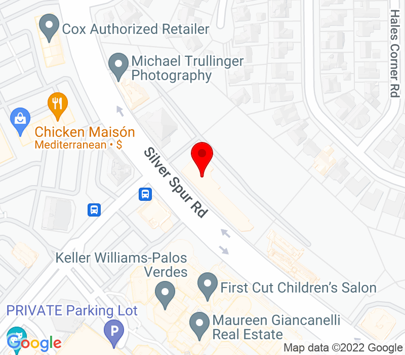 Click to view Google maps office address 500 Silver Spur Road, Suite 300, Rolling Hills Estates, CA 90275