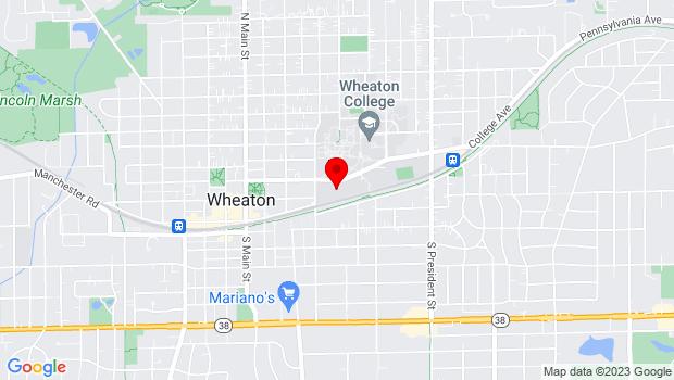 Google Map of 500 College Ave., Wheaton, IL 60187
