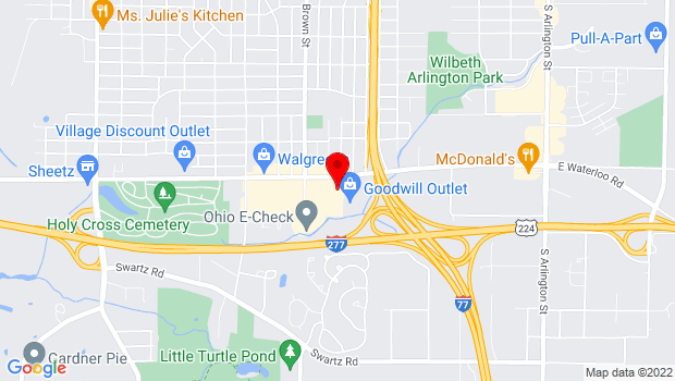 Google Map of 500 E Waterloo Road, Akron, OH 44319