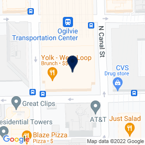 Google Map of 500 W Madison St. Suite G011 Chicago, IL 60661 U.S.A.