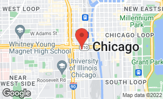Map of 500 South Clinton Street #422 CHICAGO, IL 60607