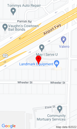 Google Map of 5000 Airport Freeway+Fort Worth+TX+76117