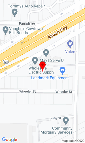 Google Map of Landmark Equipment 5000 Airport Freeway, Fort Worth, TX, 76117
