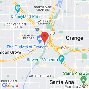 Orange County Theo Lacy Facility (TLF) location on map
