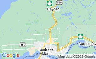 Map of Sault Ste. Marie KOA Holiday