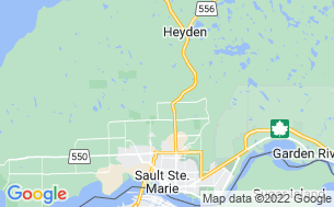 Map of Sault Ste Marie KOA Holiday