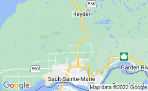 Map of Sault Ste Marie KOA Holiday