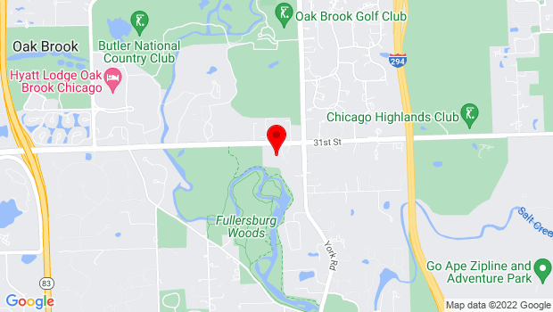 Google Map of 501 Oak Brook Rd., Oak Brook, IL