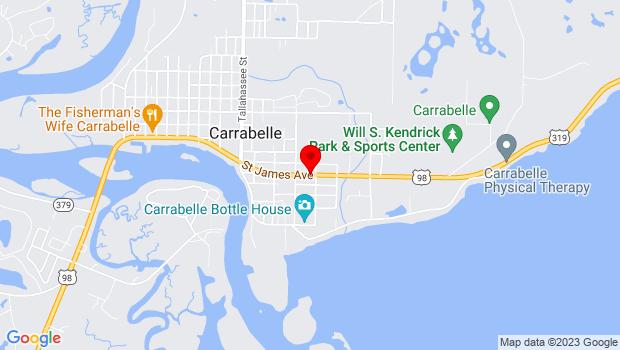 Google Map of 501 St. James Avenue (Hwy 98), Carrabelle, FL 32322