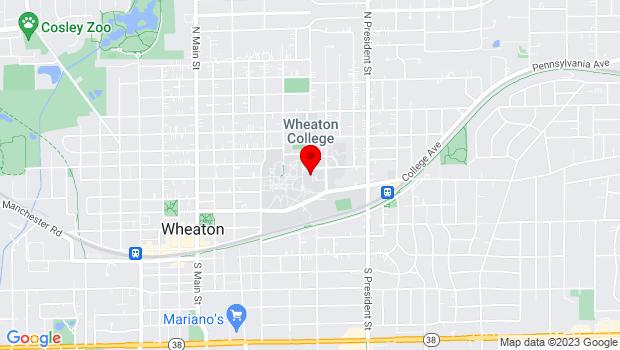 Google Map of 501 Wheaton College, Wheaton, IL 60187