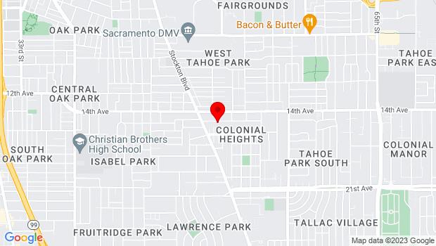 Google Map of 5010 15th Ave., Sacramento, CA 95820