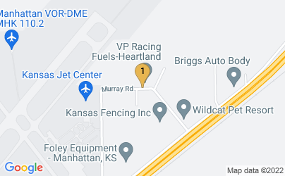 Google Map of 5022 Murray Rd Manhattan, KS 66503 U.S.A