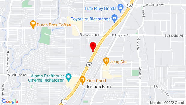 Google Map of 503 N. Central Expy., Richardson, TX 75080