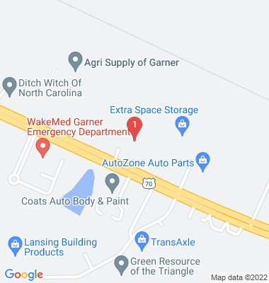 Google Map of 503-A US Hwy 70 E  Garner, NC 27529