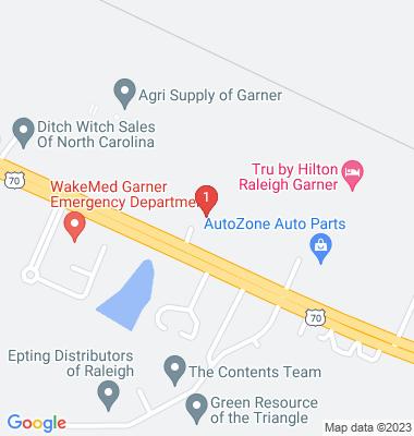 Google Map of 503-A US Hwy 70 E  Garner, NC 27529