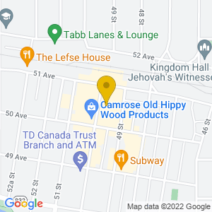 Map to Bailey Theatre provided by Google