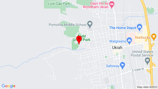 Google Map of 506 Park Blvd, Ukiah, CA 95482