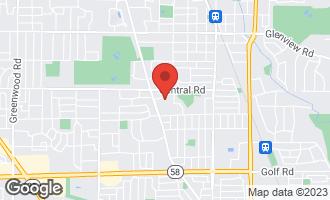 Map of 506 Briarhill Lane GLENVIEW, IL 60025