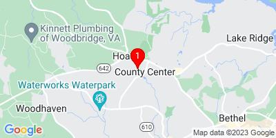 Google Map of 5064 Anchorstone Dr. Woodbridge, Virginia 22192