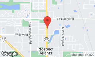 Map of 507 North Elmhurst Road PROSPECT HEIGHTS, IL 60070