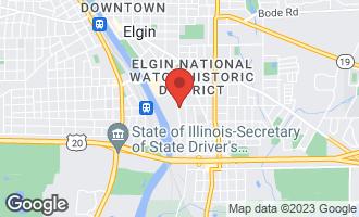 Map of 507 Wellington Avenue ELGIN, IL 60120