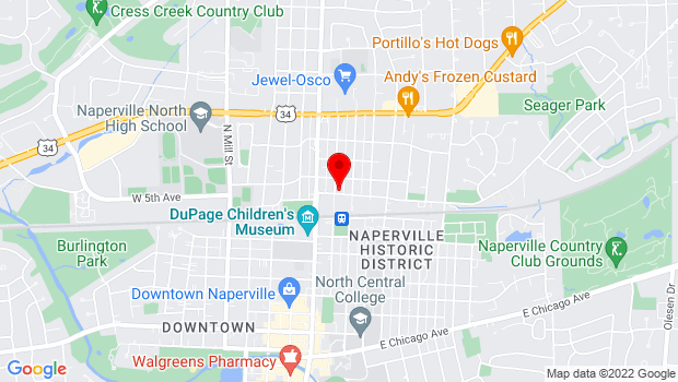 Google Map of 508 N Center Stree, Naperville, IL 60563