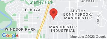 Google Map of 5085+1st+street+SE%2CCalgary%2CAlberta+T2G+2A8