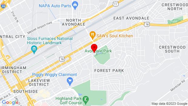 Google Map of 509 40th Street South, Birmingham, AL 35222