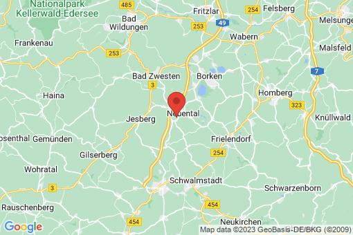 Karte Neuental