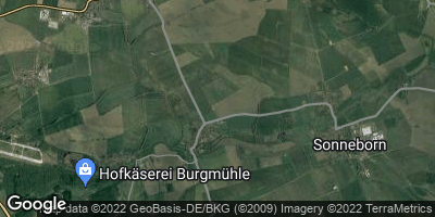 Google Map of Friedrichswerth bei Gotha