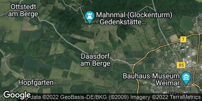 Google Map of Daasdorf am Berge