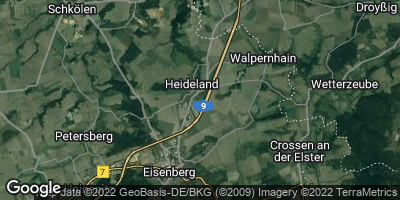 Google Map of Heideland bei Eisenberg
