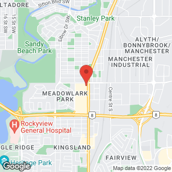 Map of Tim Hortons at 5919 Macleod Trail S, Calgary, AB T2H 2R9