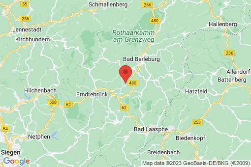 Karte Bad Berleburg Rinthe